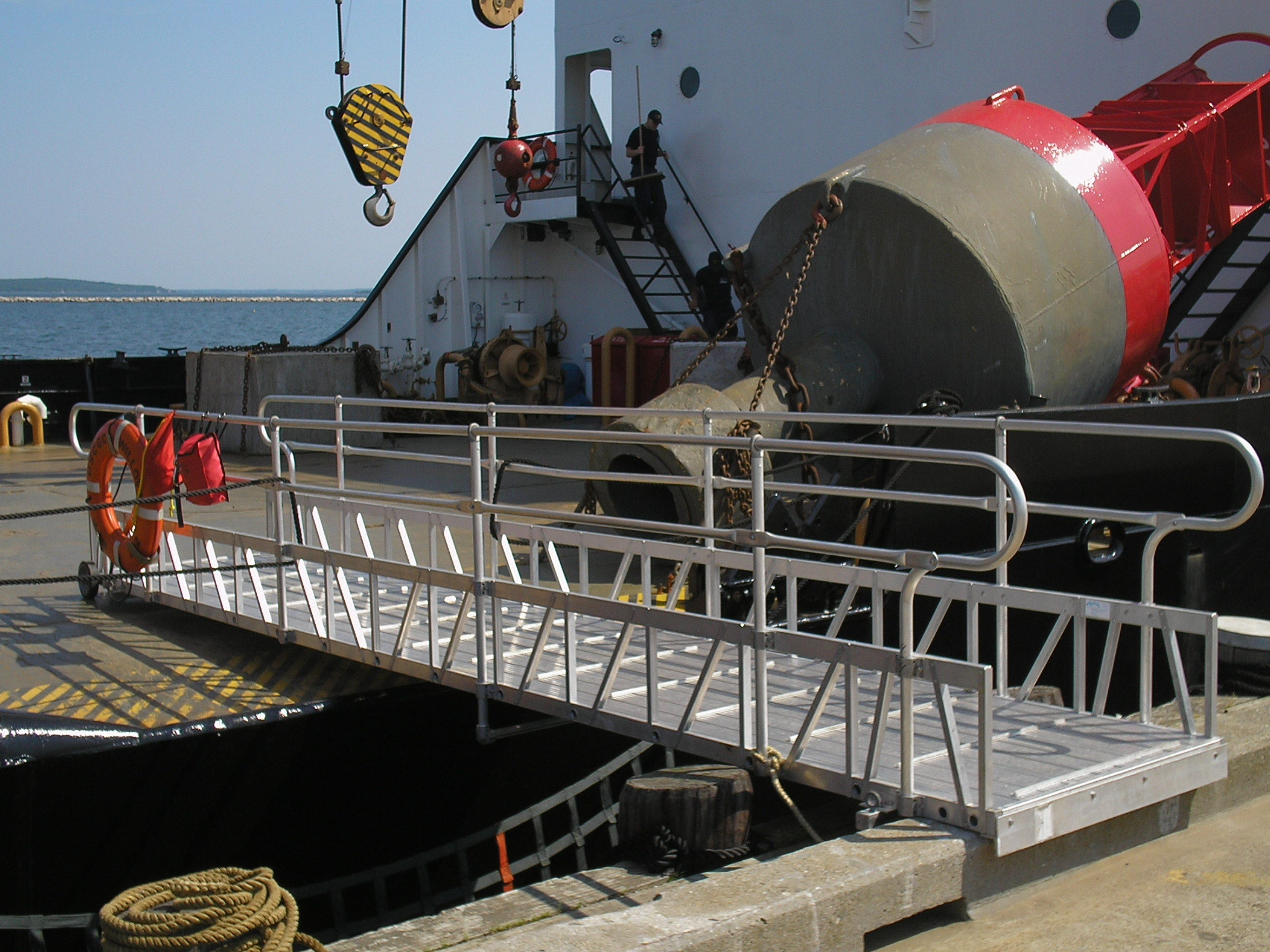 Coast Guard Gangway to Cutter