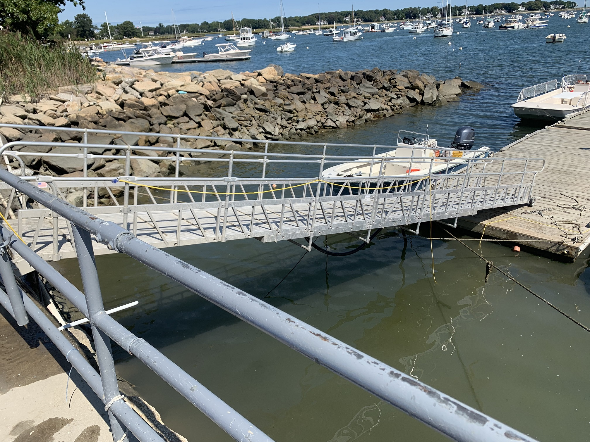 Aluminum Gangway to Floating Dock In MA