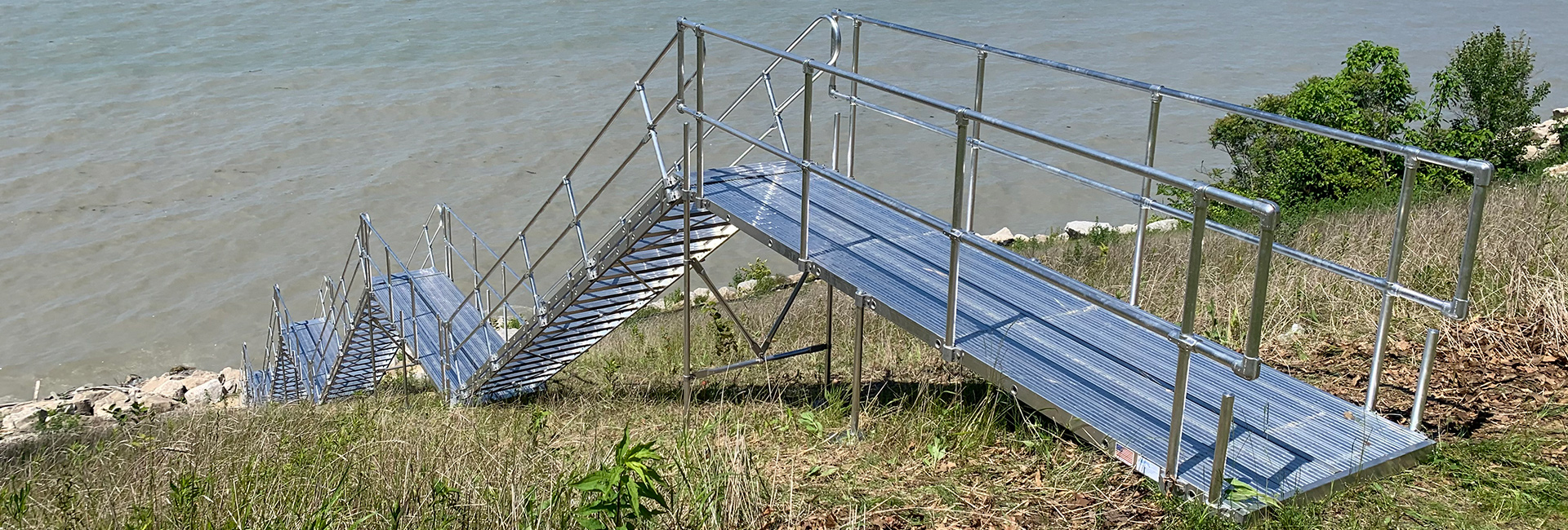 Aluminum Beach Stairs with Platforms