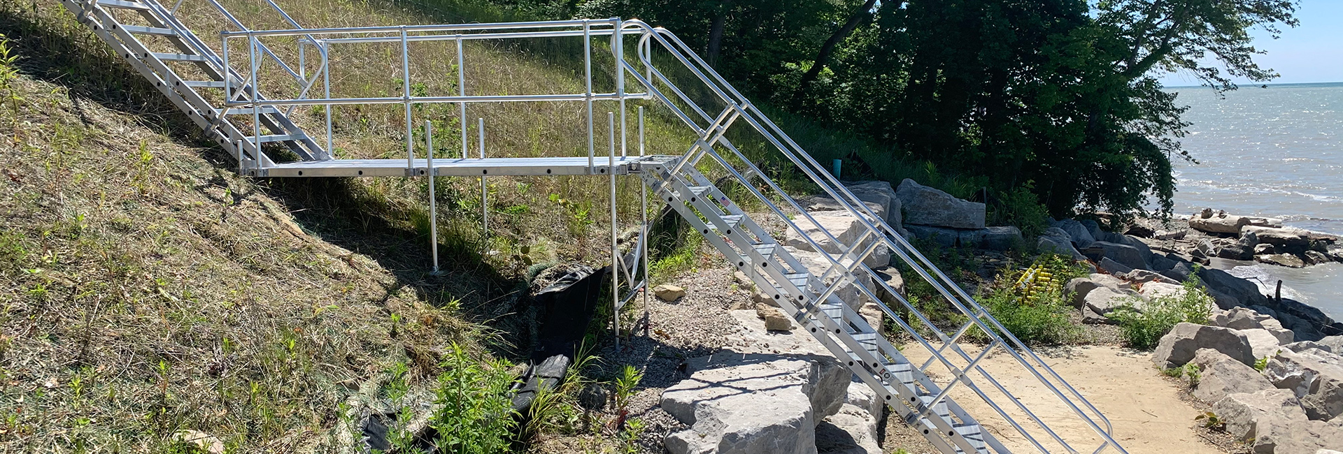 Aluminum Beach Stair in Great Lakes