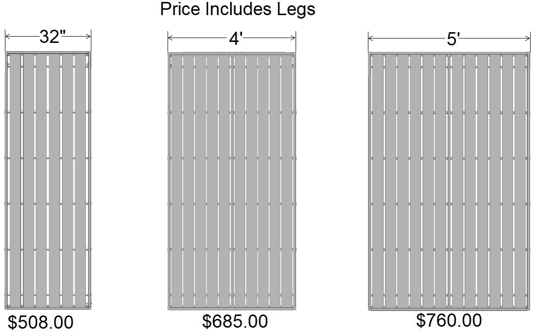 Aluminum Docks Pricing Per Section